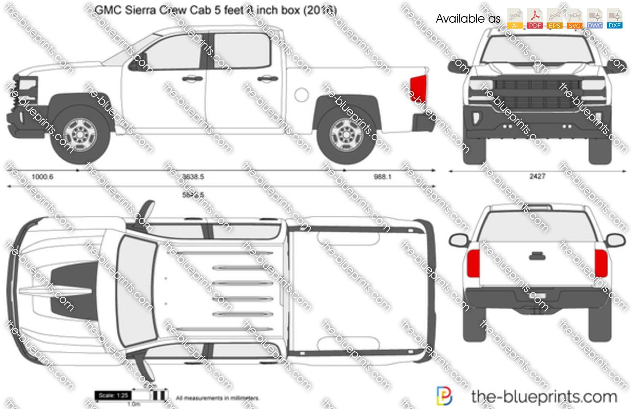 GMC Sierra Crew Cab 5 feet 8 inch box