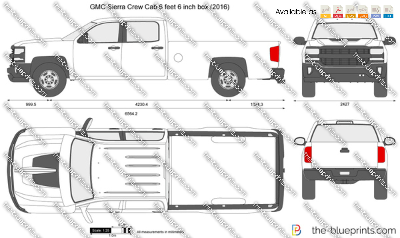 GMC Sierra Crew Cab 6 feet 6 inch box