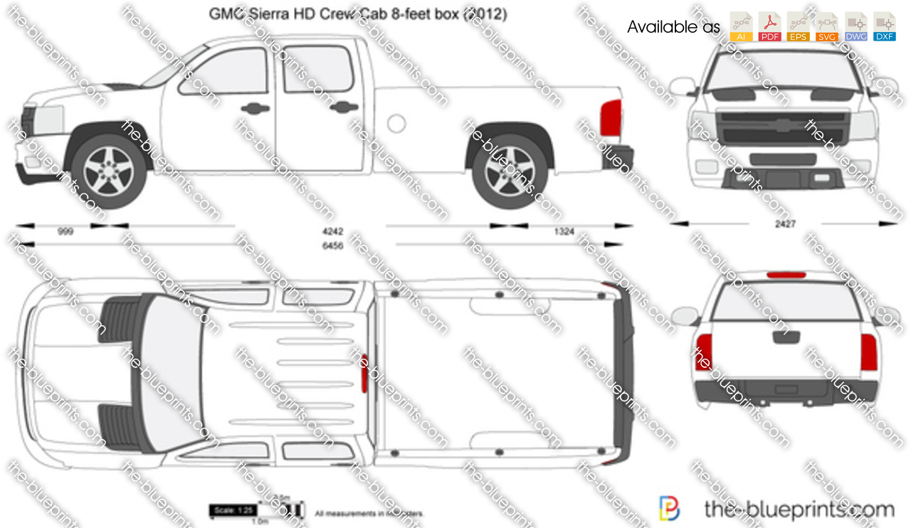 GMC Sierra HD Crew Cab 8-feet box