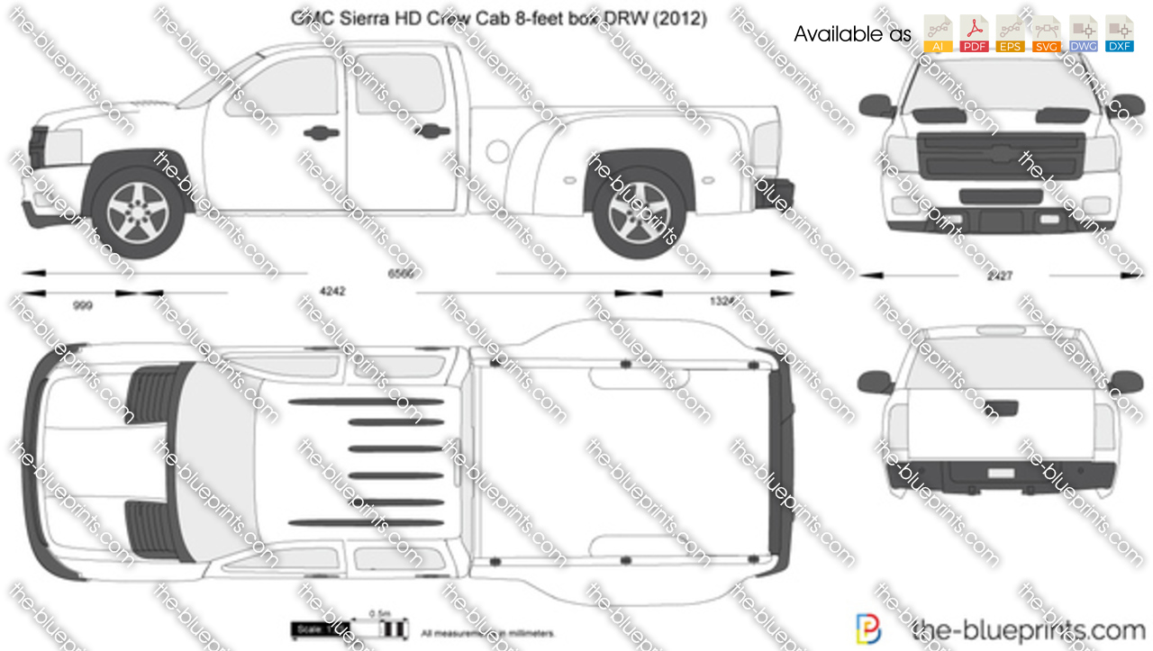 GMC Sierra HD Crew Cab 8-feet box DRW 2011