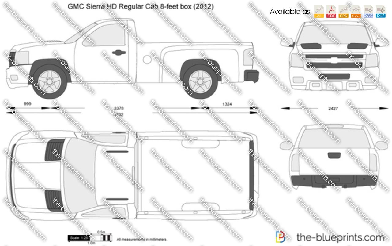 GMC Sierra HD Regular Cab 8-feet box