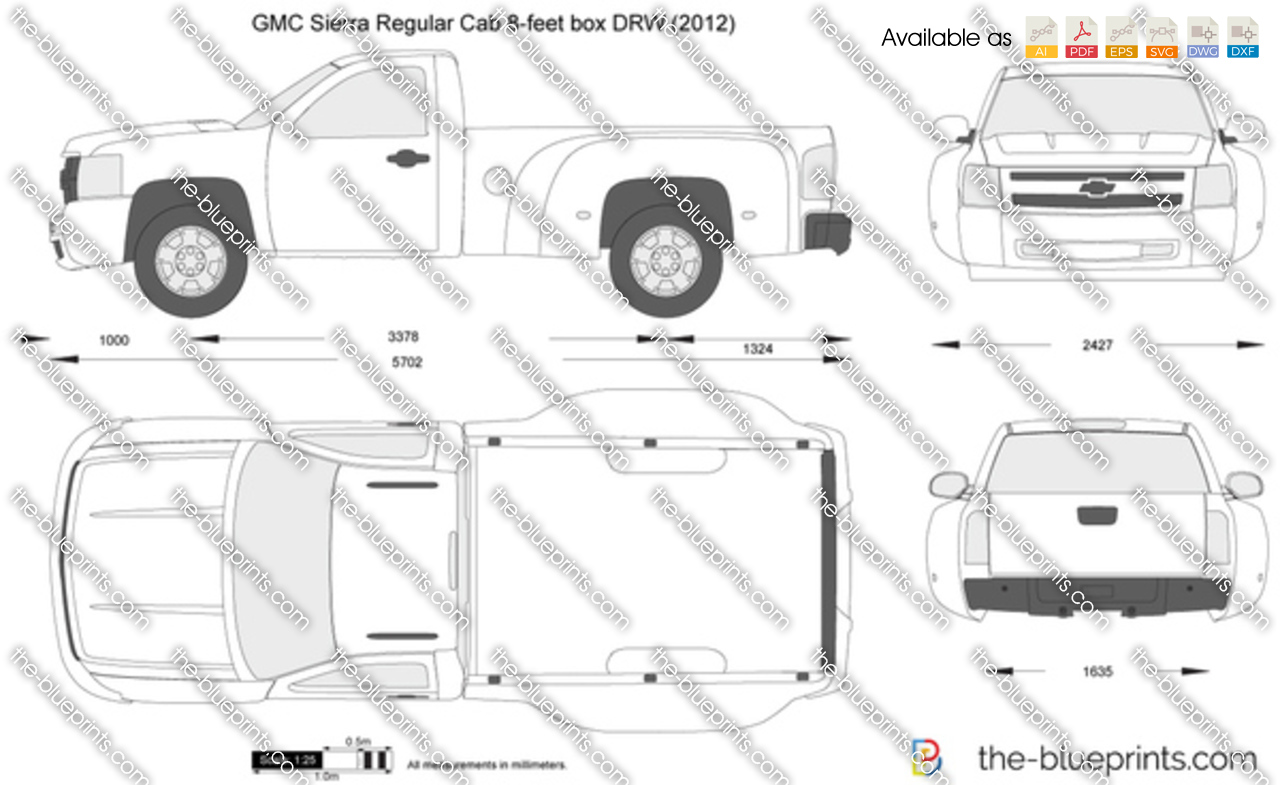 GMC Sierra Regular Cab 8-feet box DRW