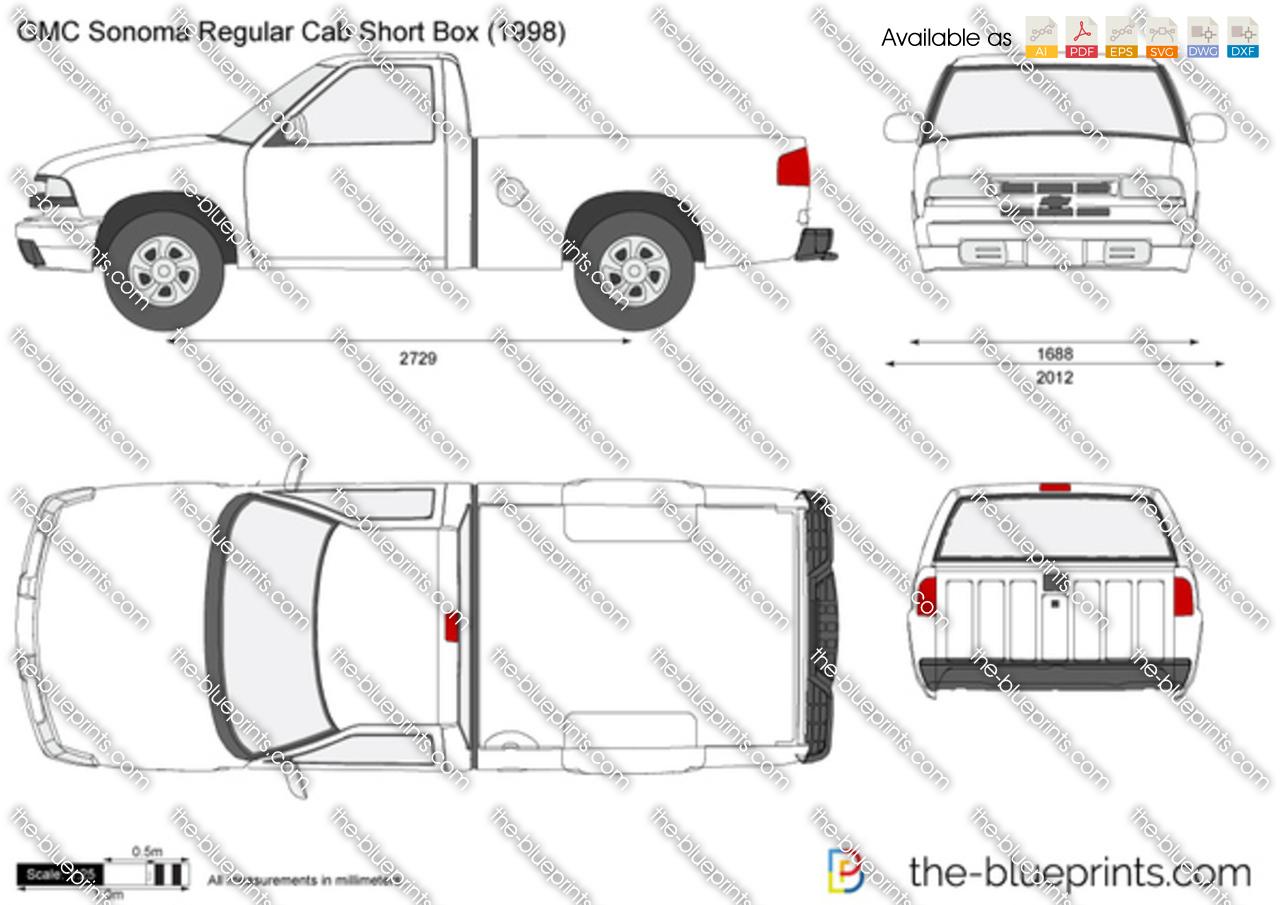 GMC Sonoma Regular Cab Short Box 2001