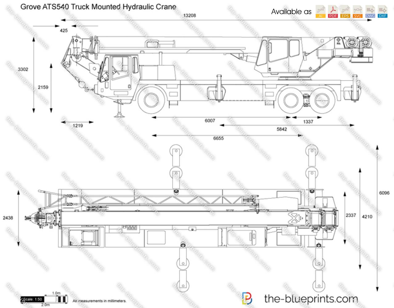 Grove ATS540 Truck Mounted Hydraulic Crane