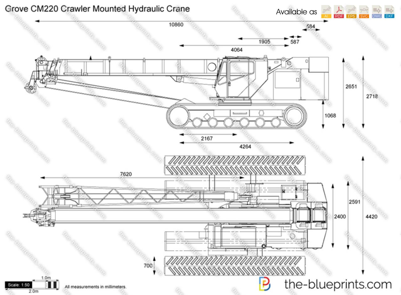 Grove CM220 Crawler Mounted Hydraulic Crane