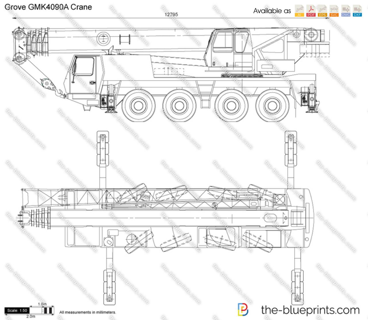 Grove GMK4090A Crane