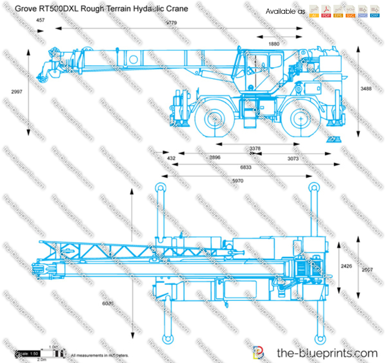 Grove RT500DXL Rough Terrain Hydaulic Crane
