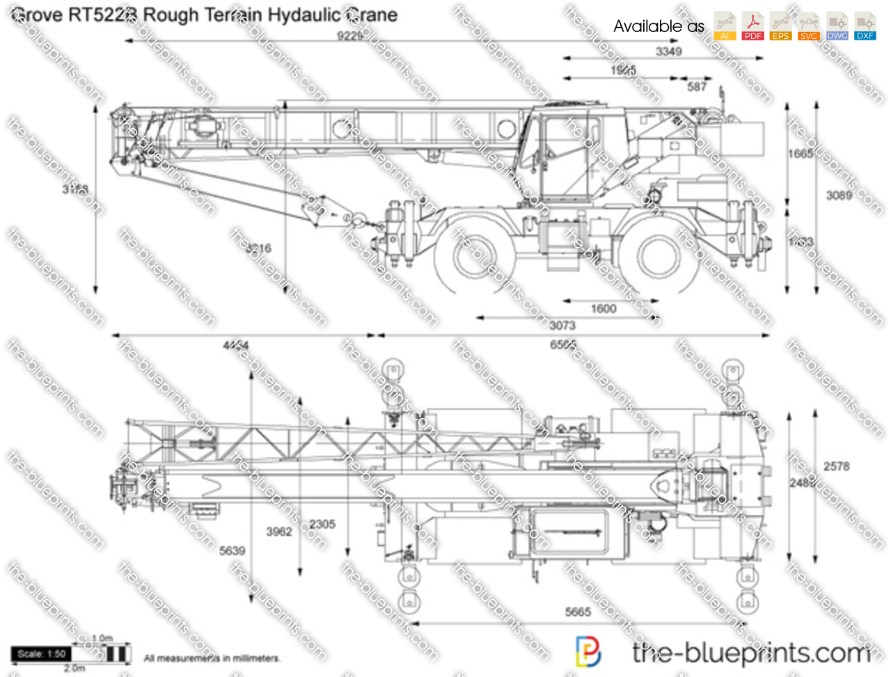 Grove RT522B Rough Terrain Hydaulic Crane