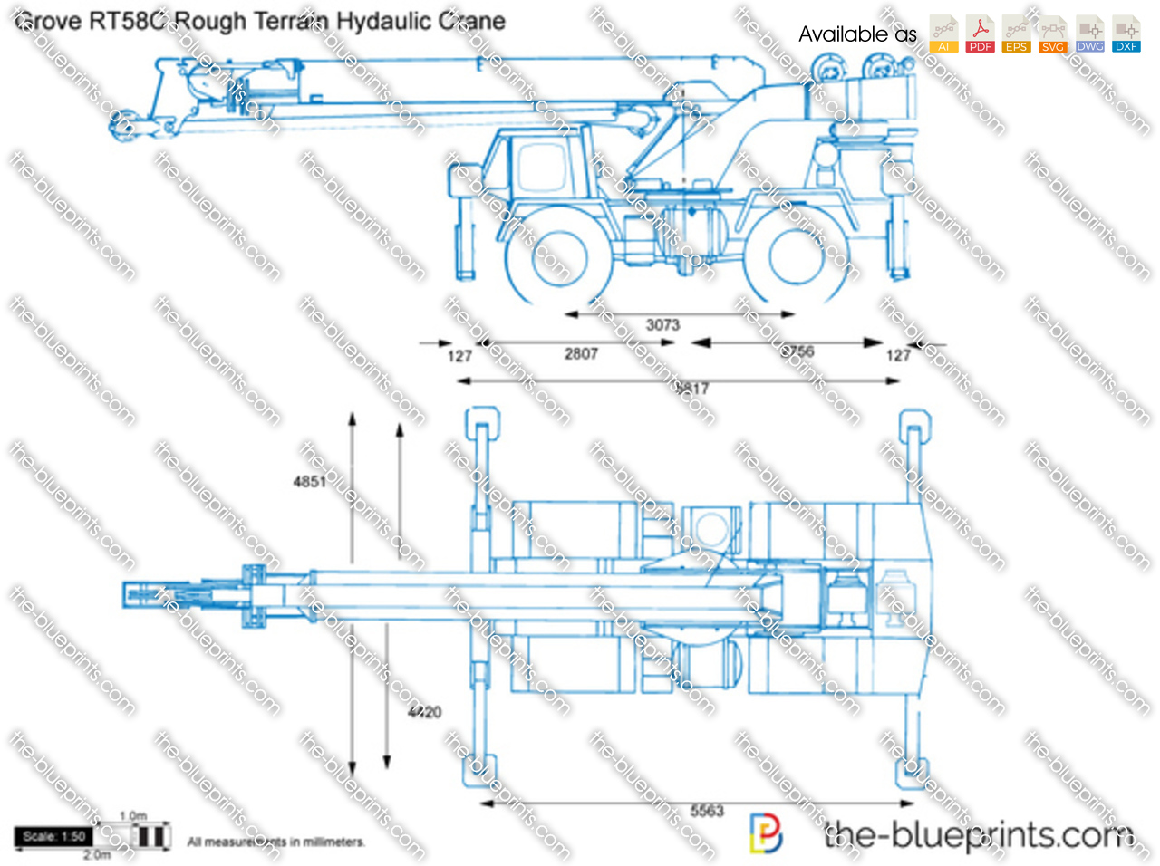 Grove RT58C Rough Terrain Hydaulic Crane
