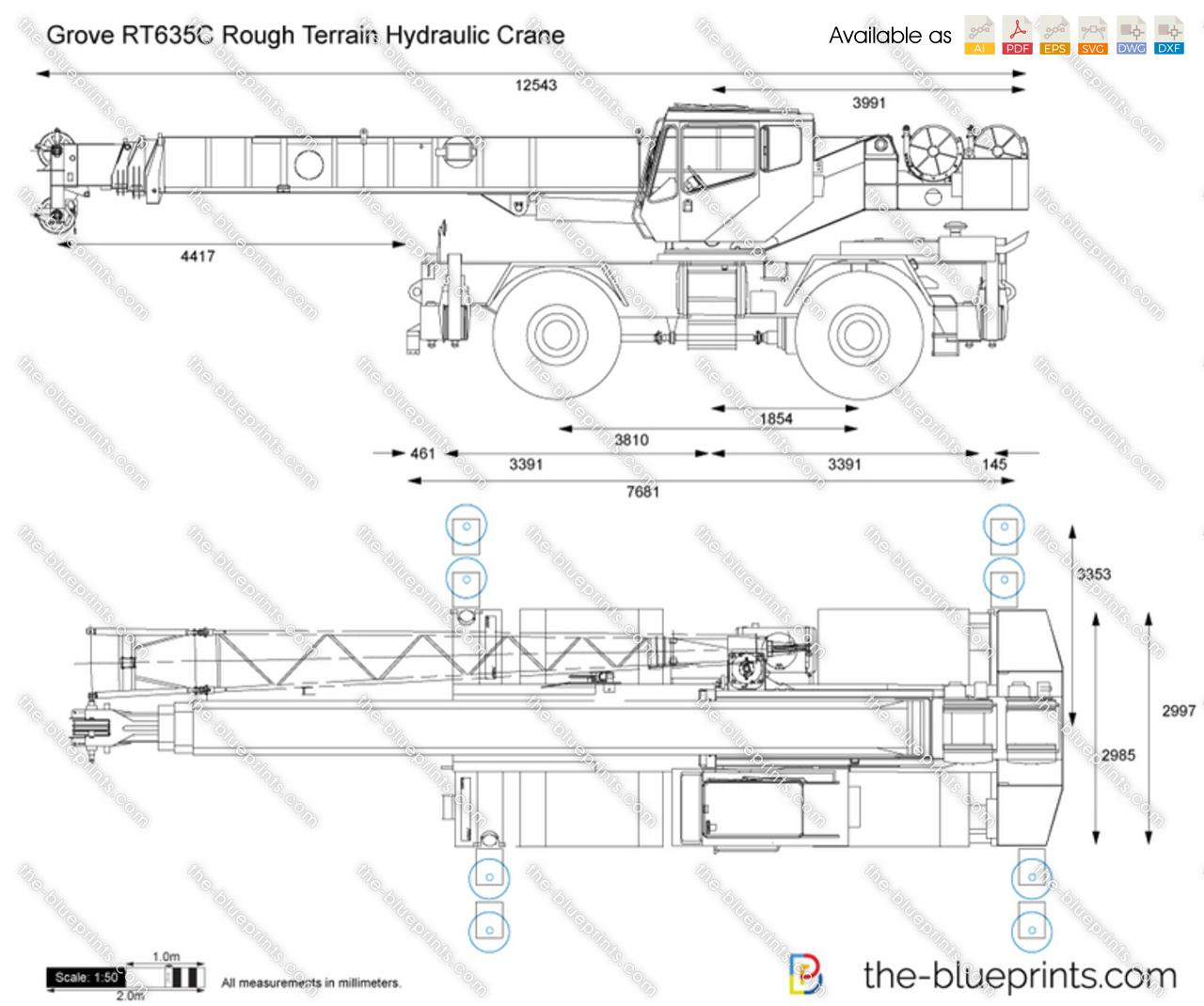 Grove RT635C Rough Terrain Hydraulic Crane