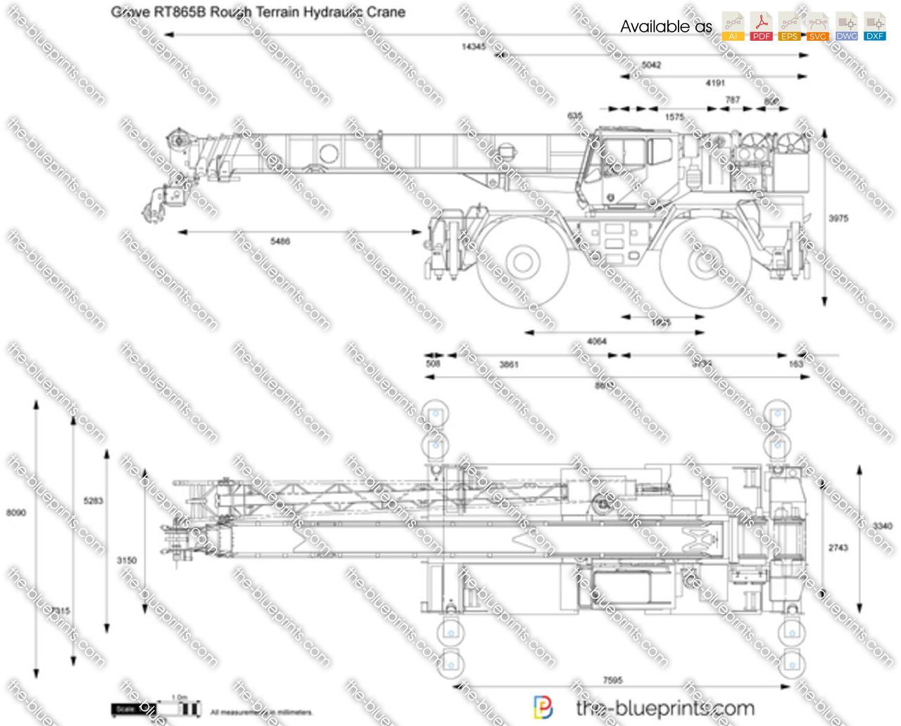 Grove RT865B Rough Terrain Hydraulic Crane