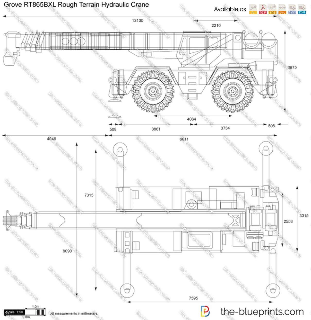 Grove RT865BXL Rough Terrain Hydraulic Crane