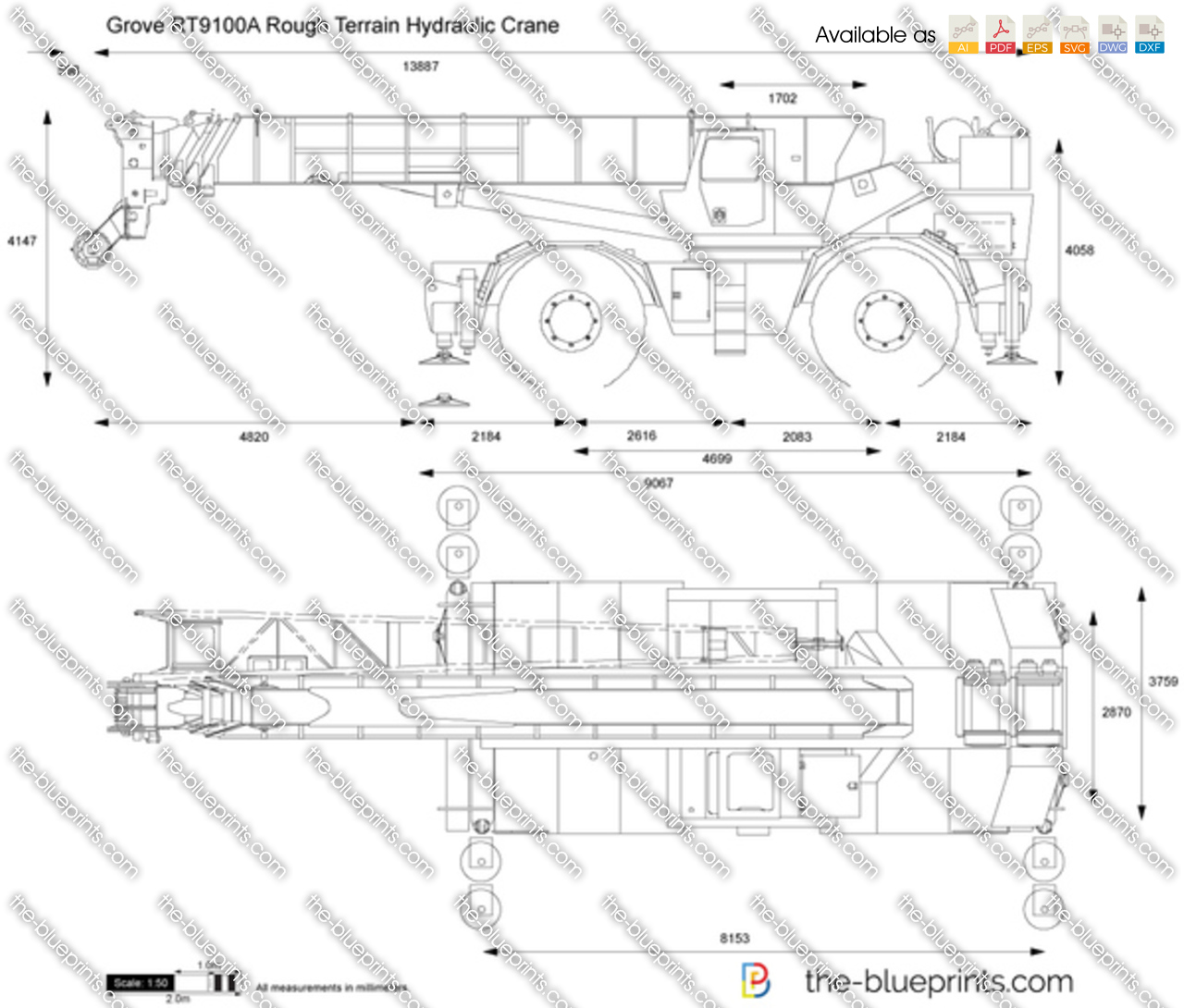 Grove RT9100A Rough Terrain Hydraulic Crane