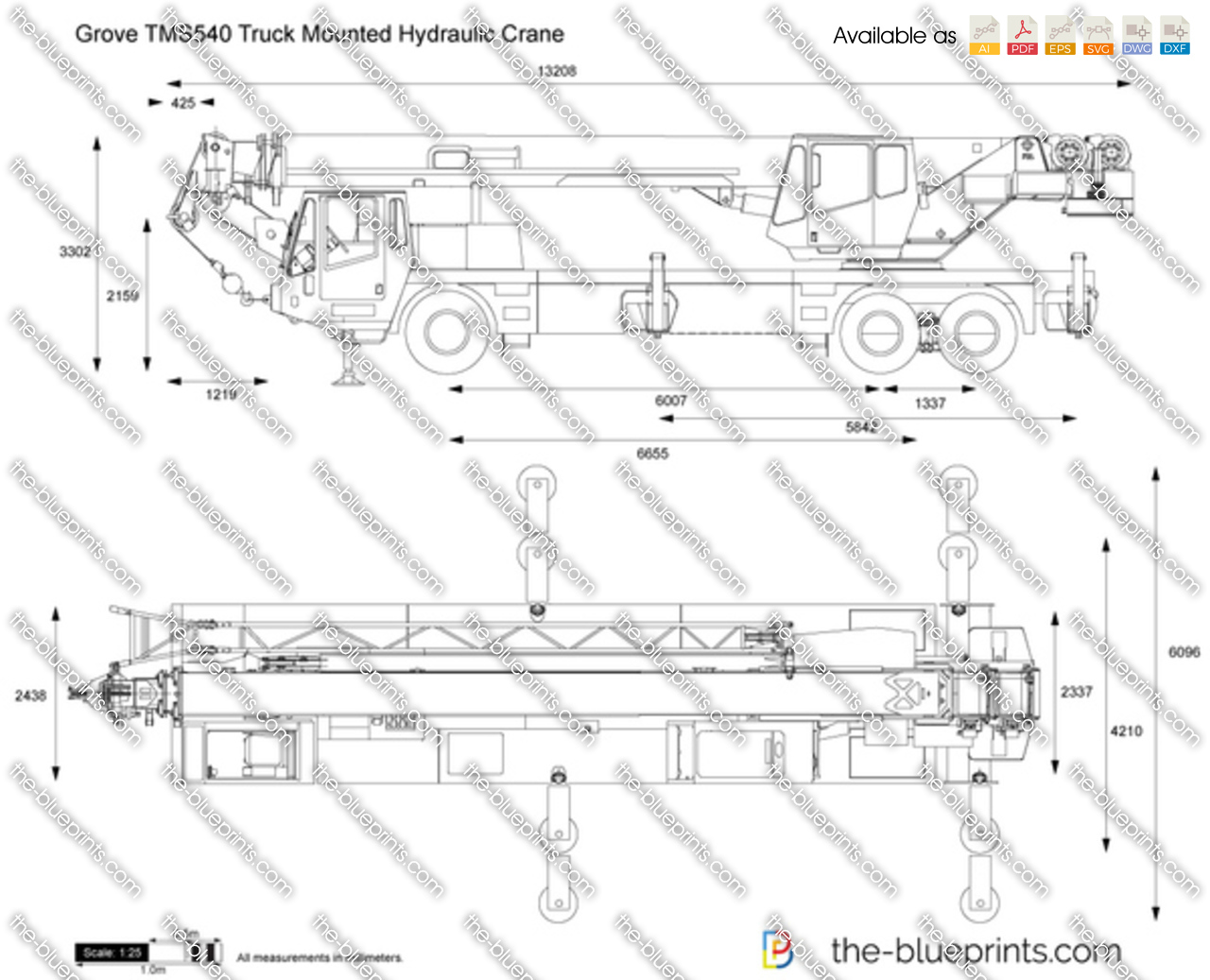 Grove TMS540 Truck Mounted Hydraulic Crane