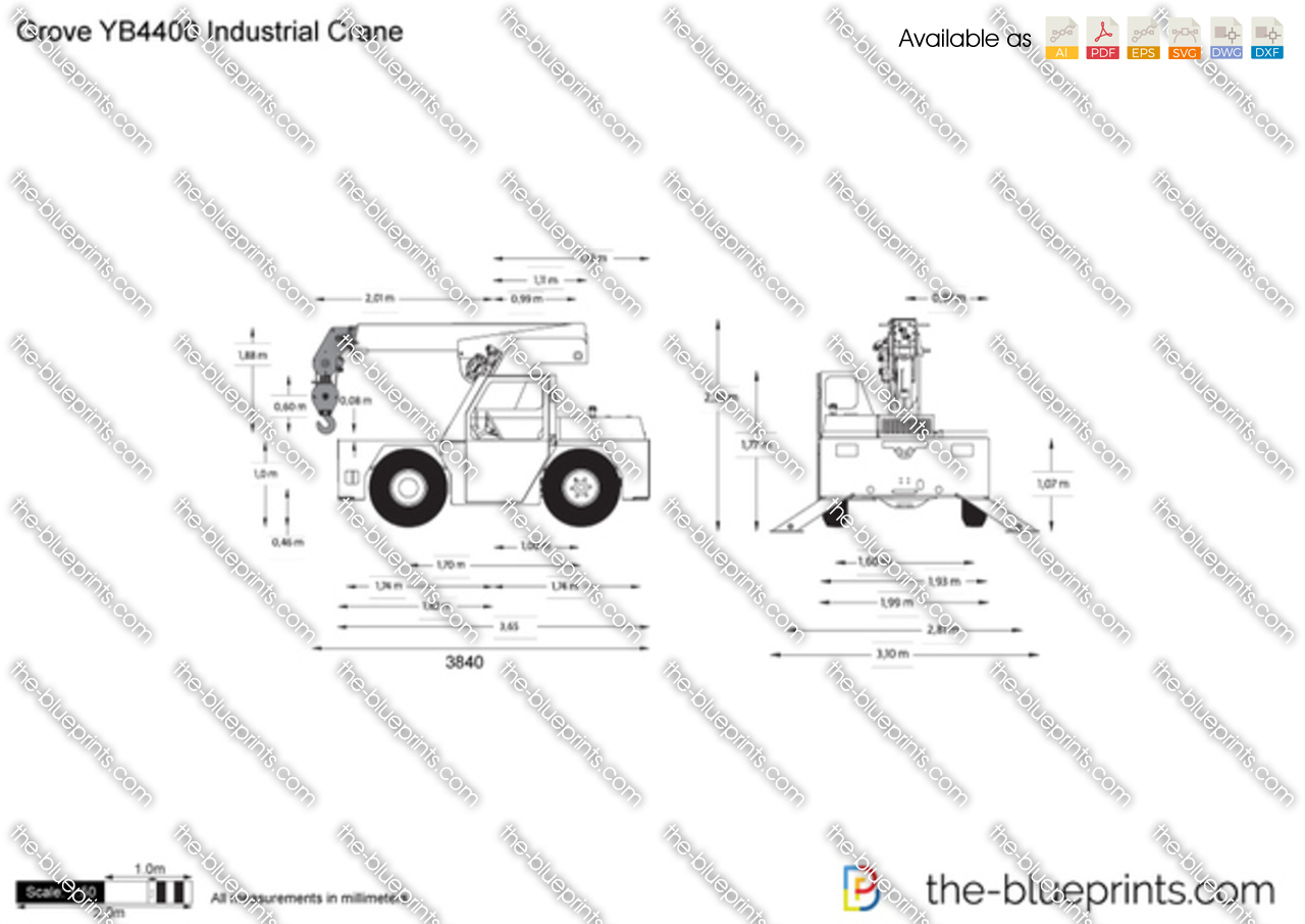 Grove YB4400 Industrial Crane