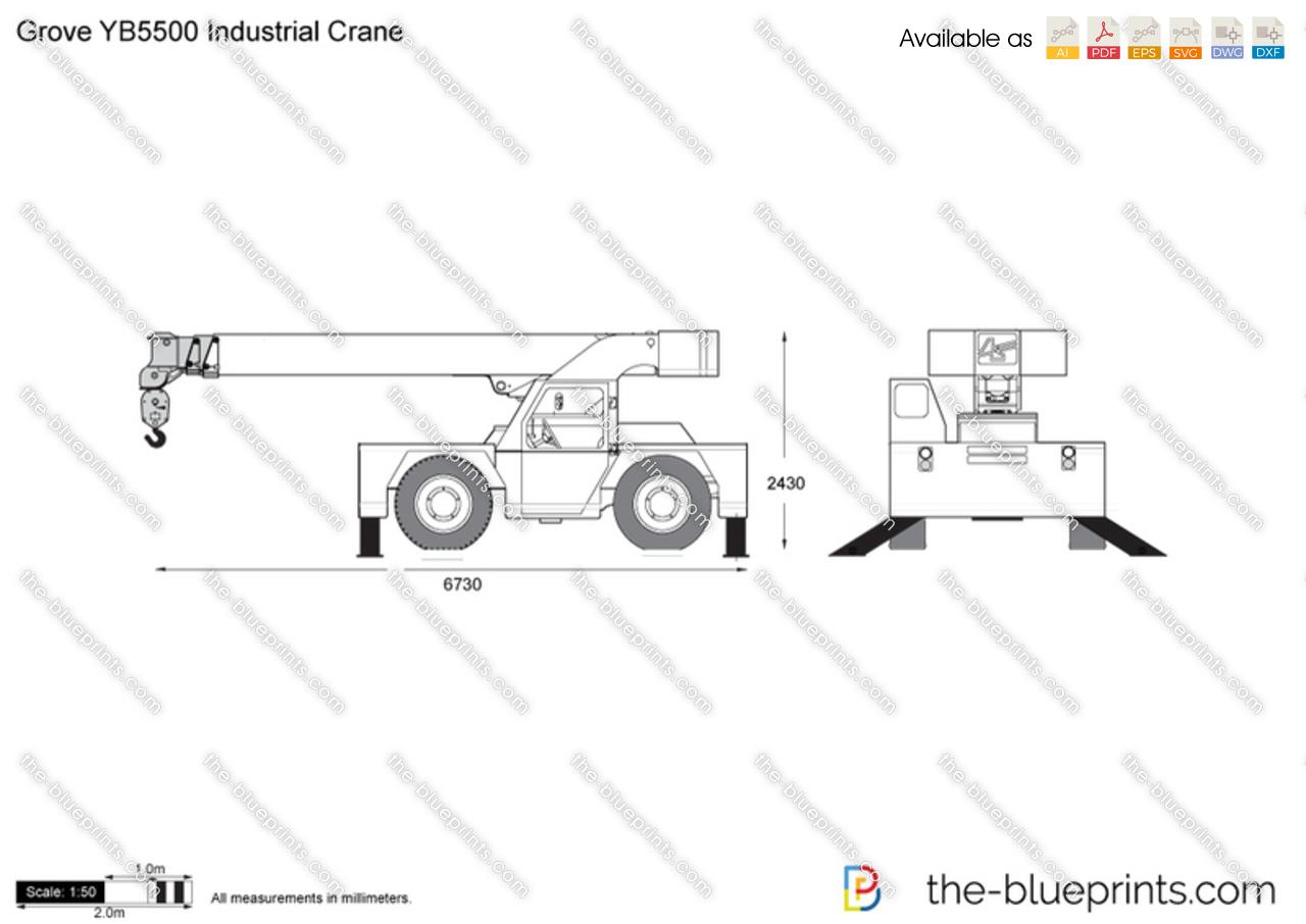 Grove YB5500 Industrial Crane