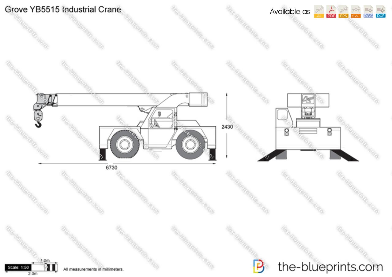 Grove YB5515 Industrial Crane