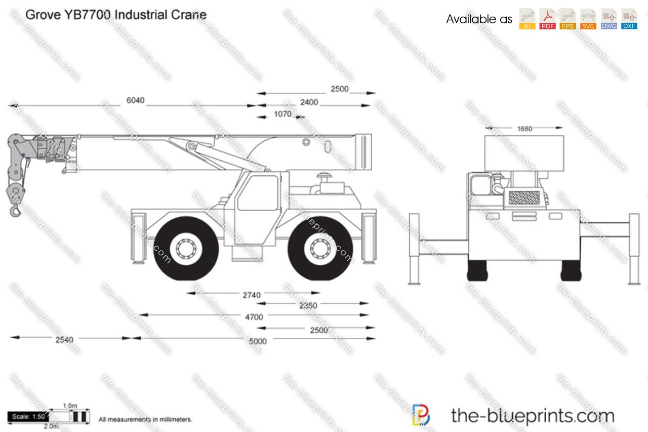 Grove YB7700 Industrial Crane