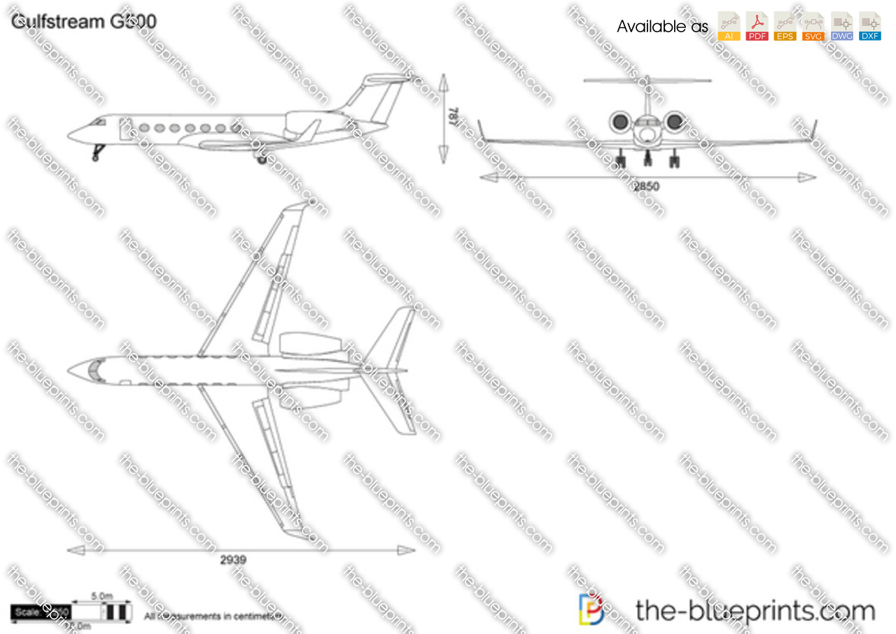 The Vector Drawing Gulfstream G500