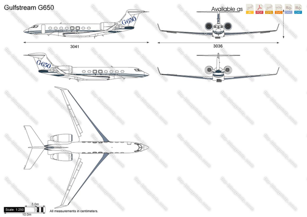 Gulfstream G650 For Sale >> Gulfstream G650 vector drawing