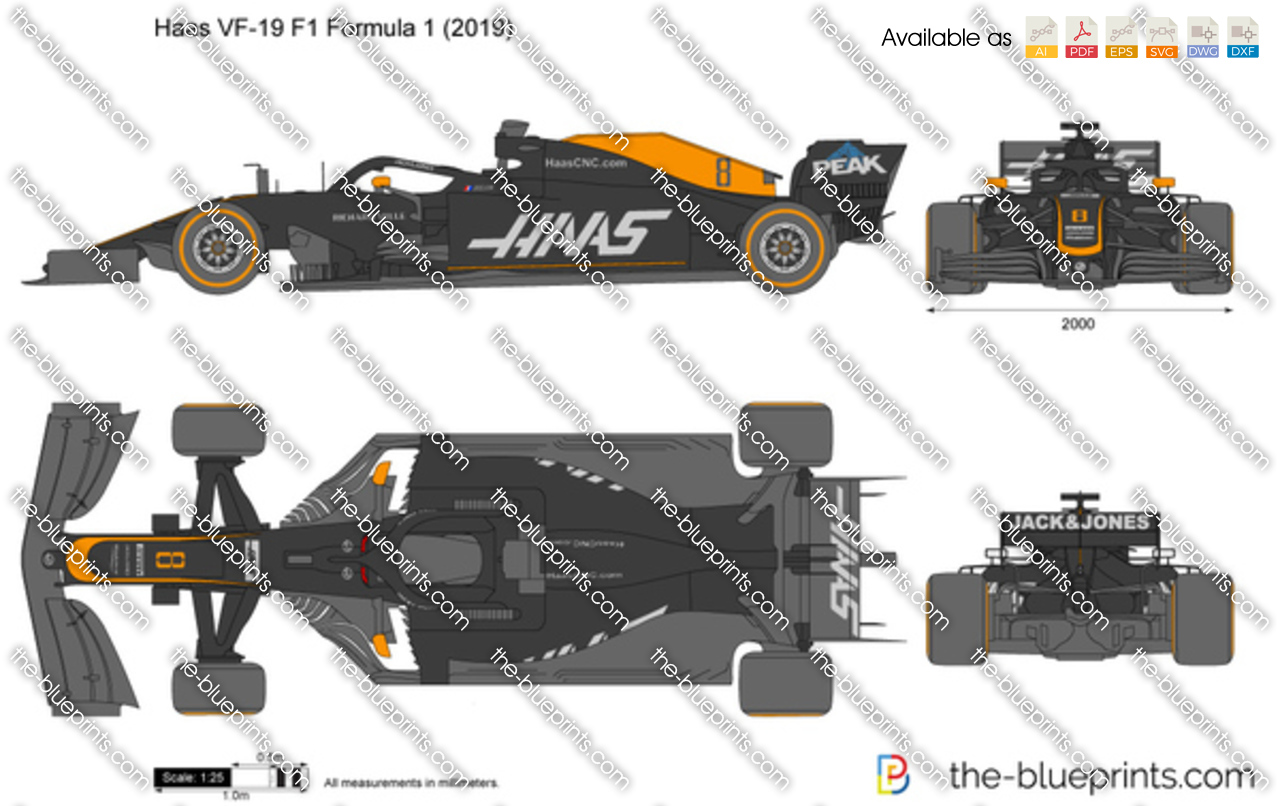 Haas VF-19 F1 Formula 1