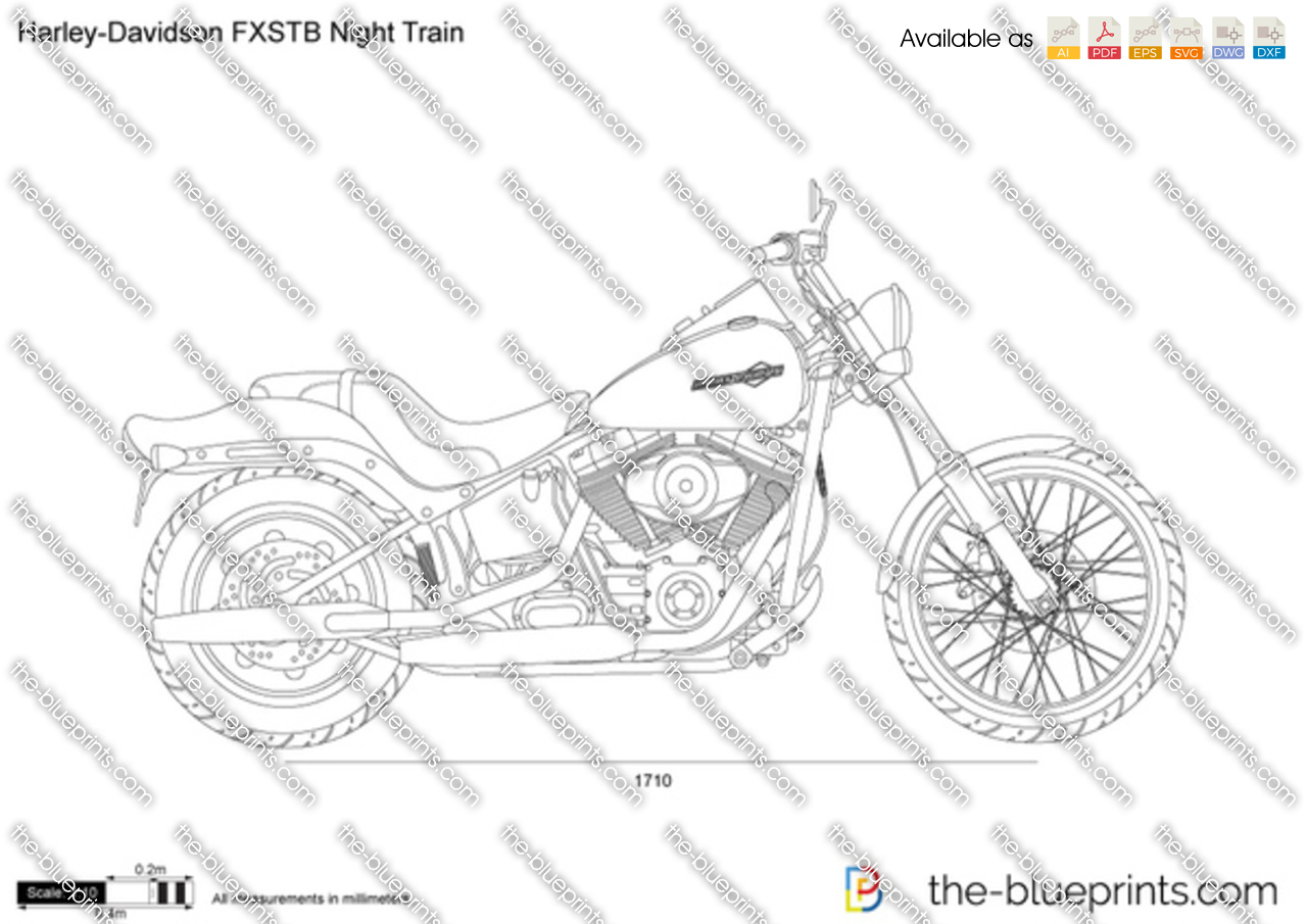 Harley Davidson fxstb night train on harley davidson