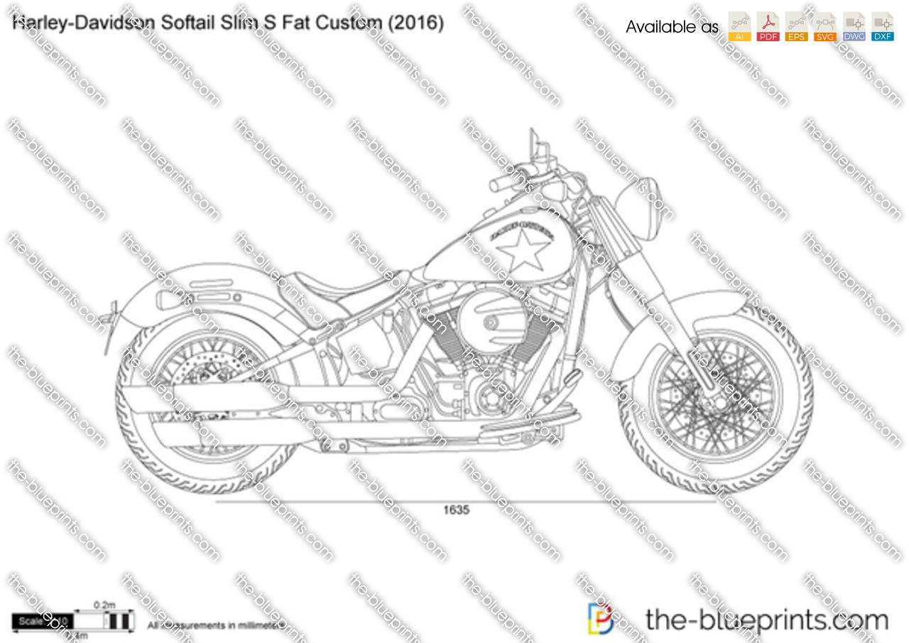 Harley-Davidson Softail Slim S Fat Custom