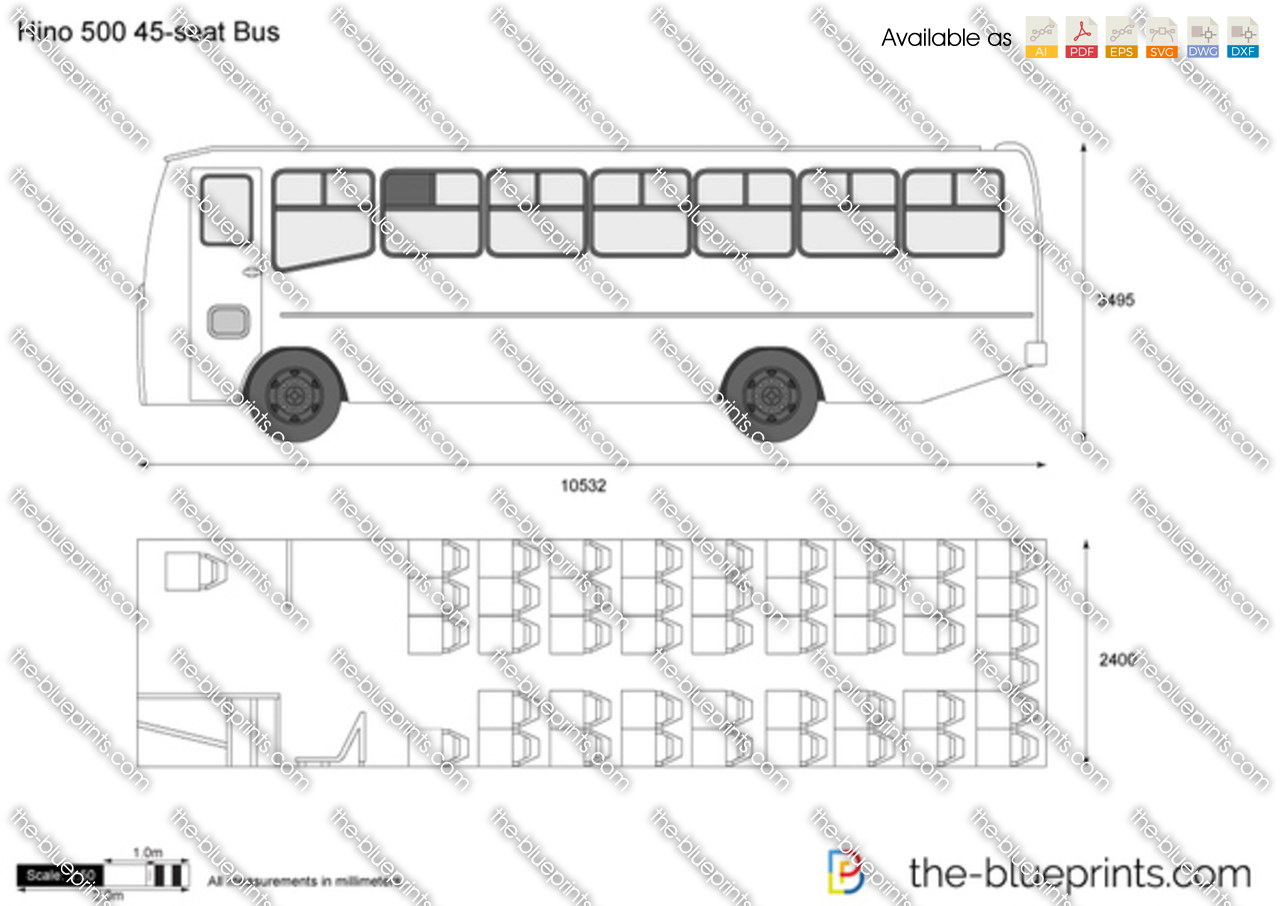 Hino 500 45-seat Bus
