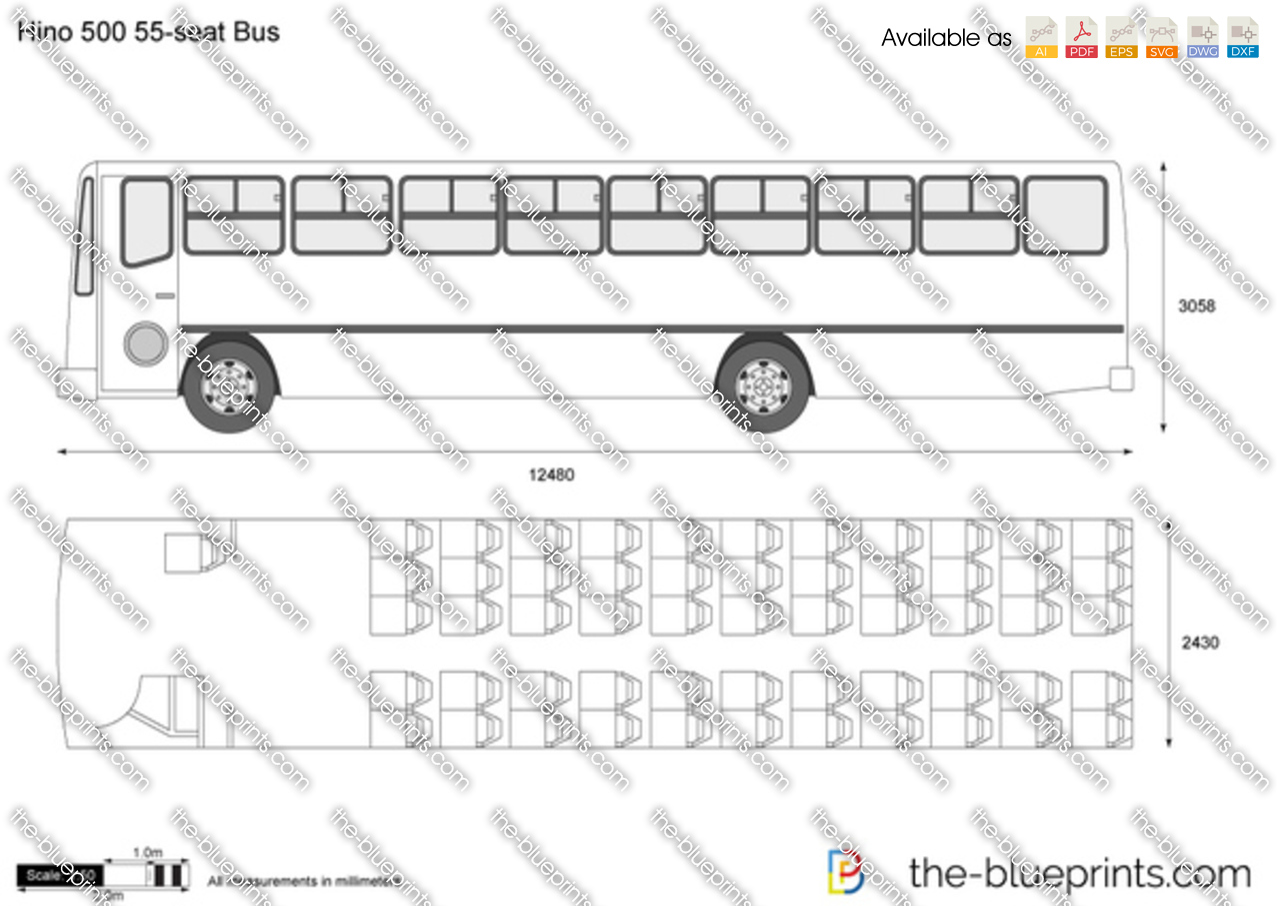 Hino 500 55-seat Bus