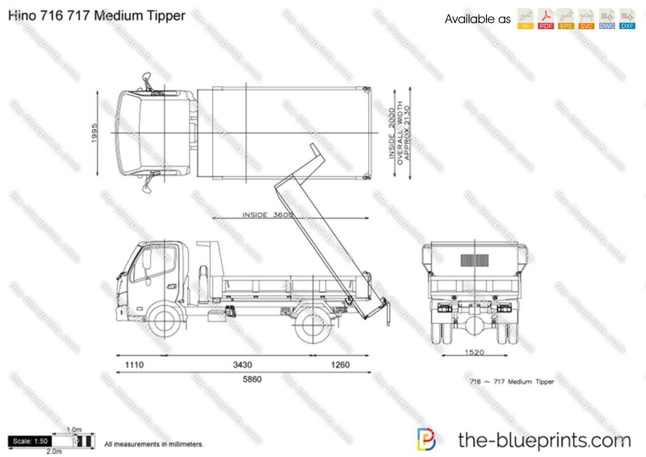 Hino 716 717 Medium Tipper