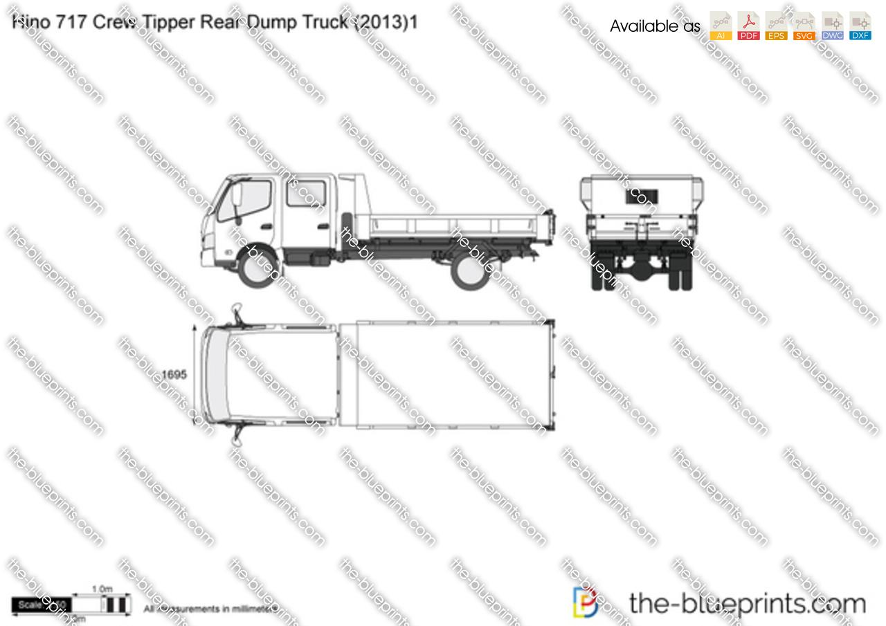Hino 717 Crew Tipper Rear Dump Truck