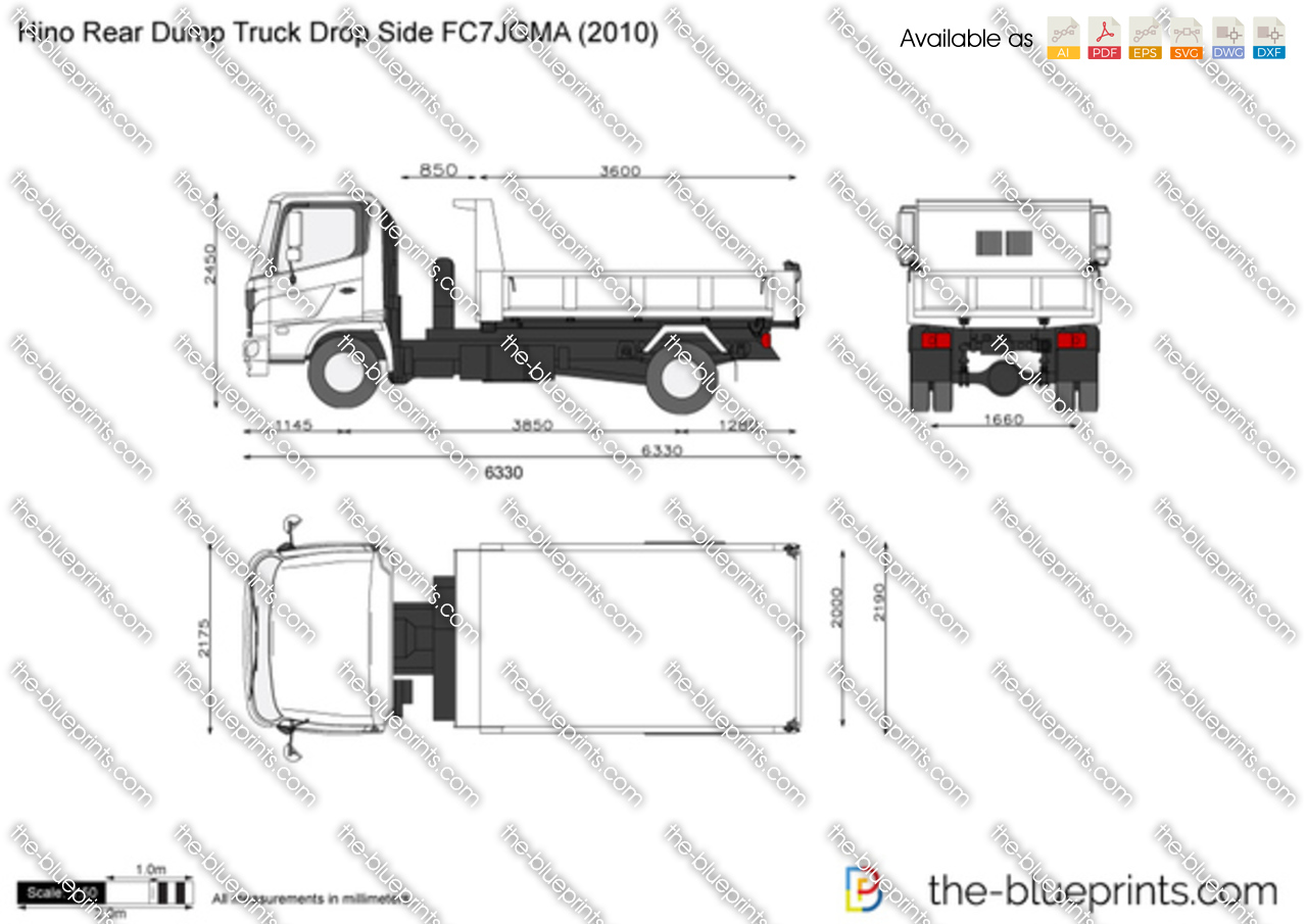 Hino Rear Dump Truck Drop Side FC7JGMA
