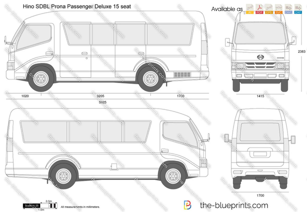 Hino SDBL Prona Passenger Deluxe 15 seat