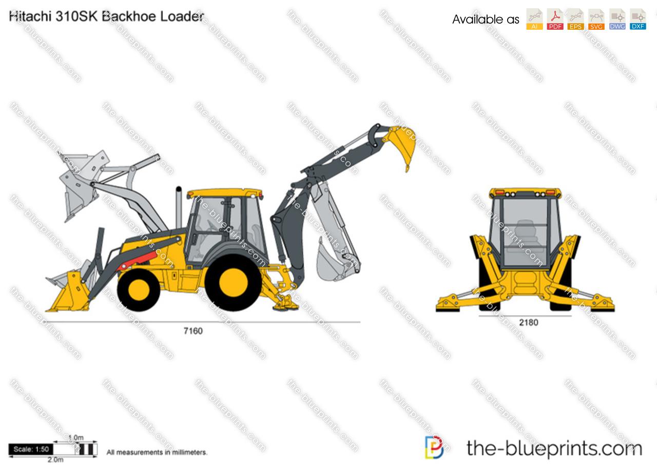 Hitachi 310SK Backhoe Loader