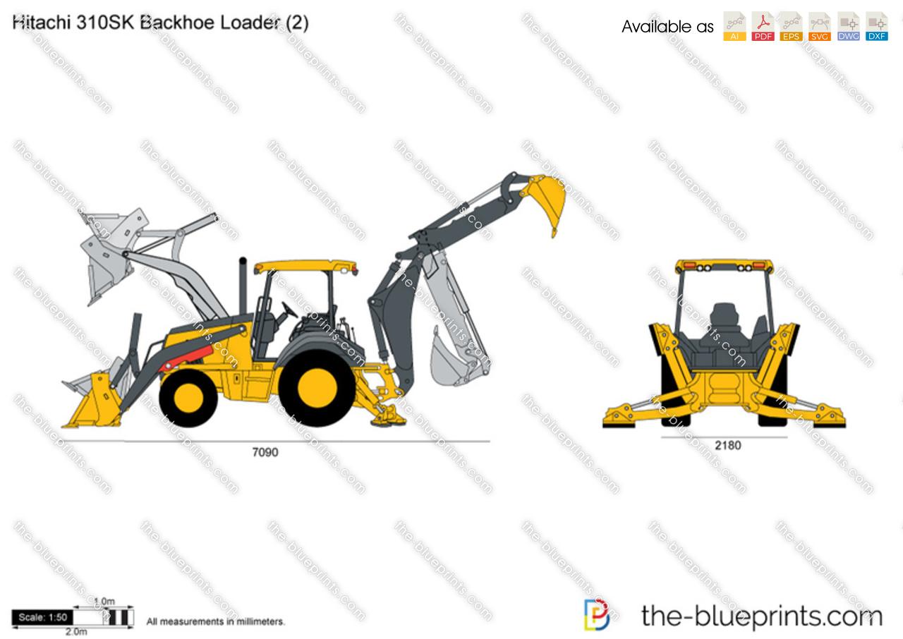 Hitachi 310SK Backhoe Loader (2)