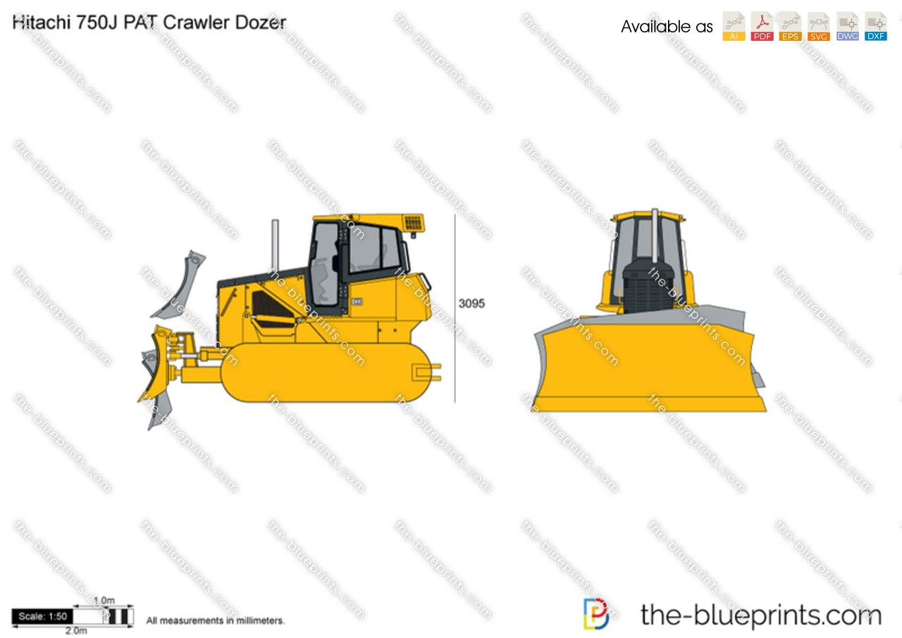 Hitachi 750J PAT Crawler Dozer