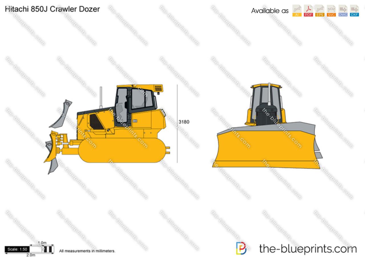 Hitachi 850J Crawler Dozer