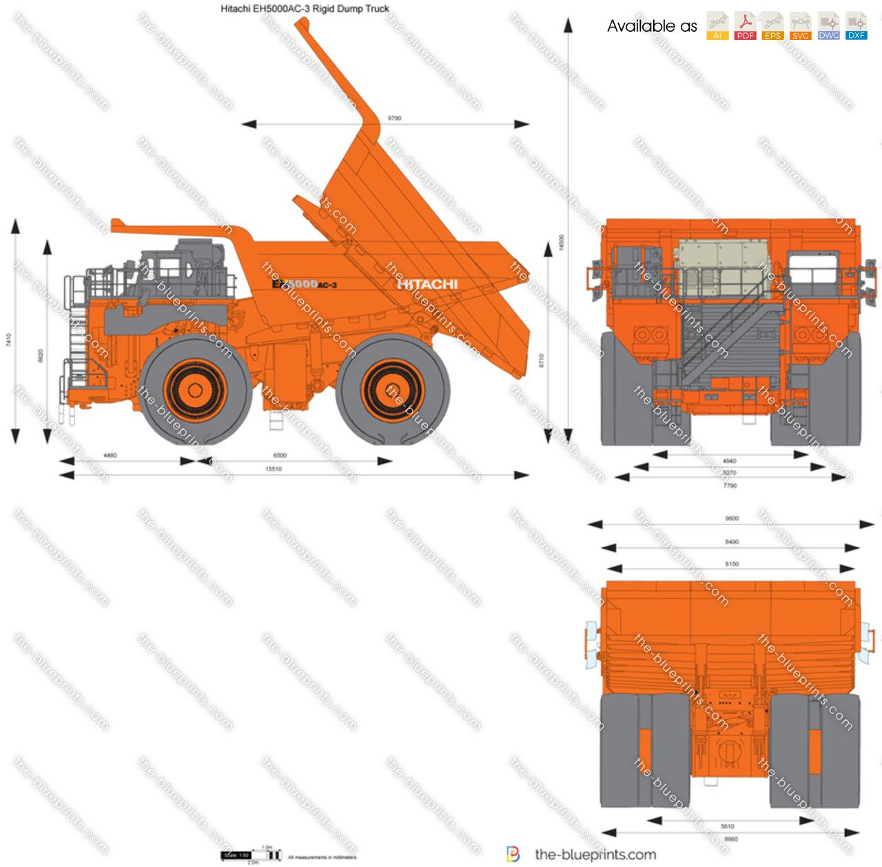 Hitachi EH5000AC-3 Rigid Dump Truck