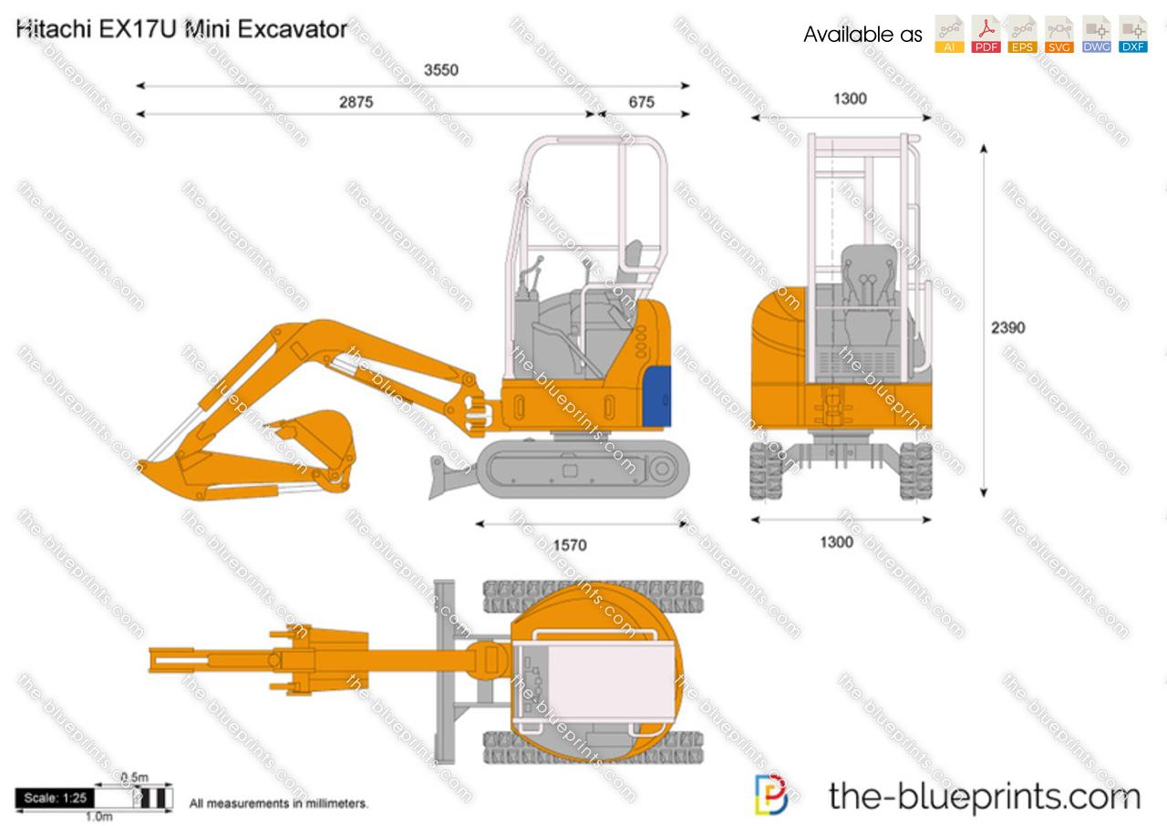 Hitachi EX17U Mini Excavator