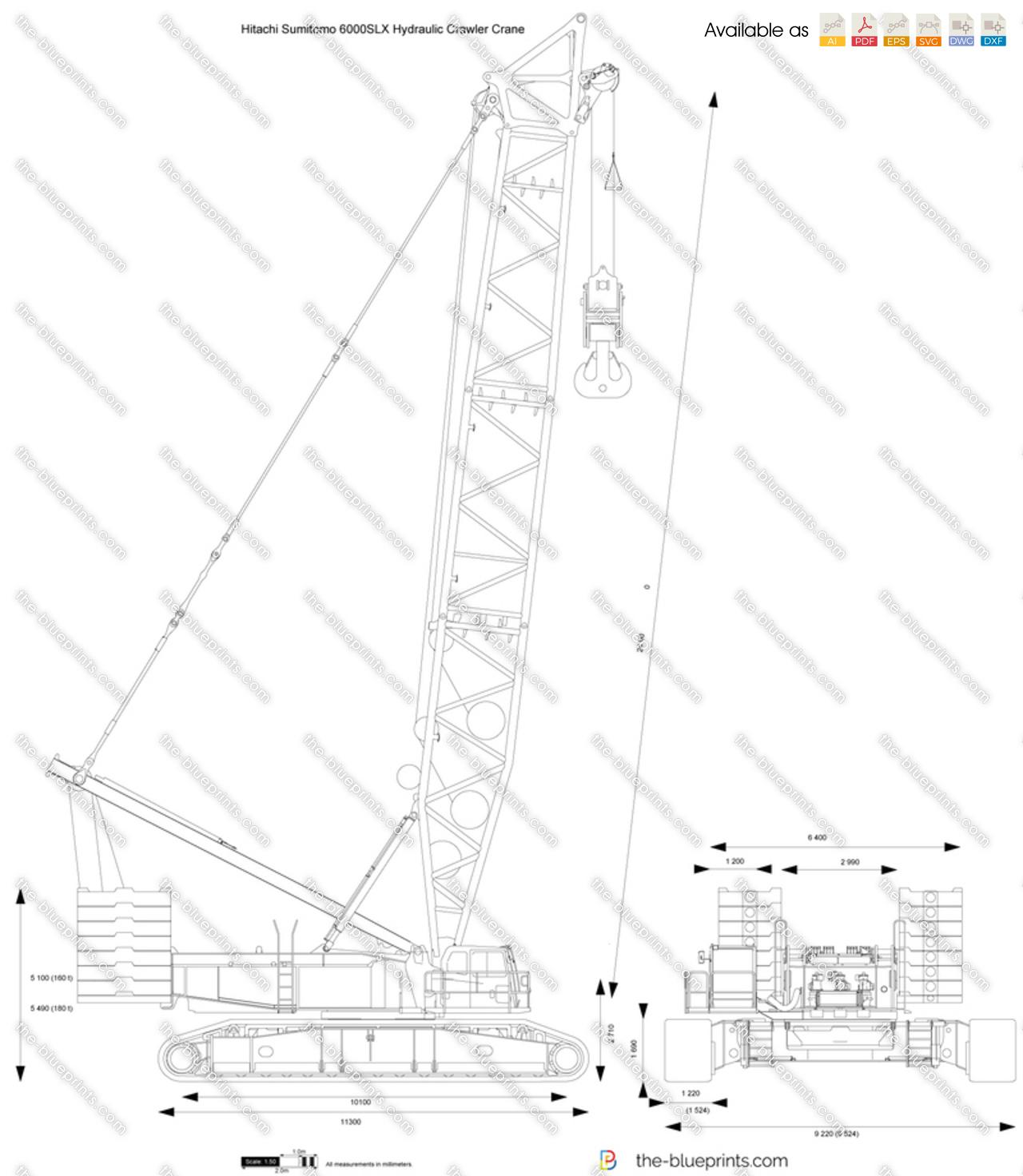 Hitachi Sumitomo 6000SLX Hydraulic Crawler Crane