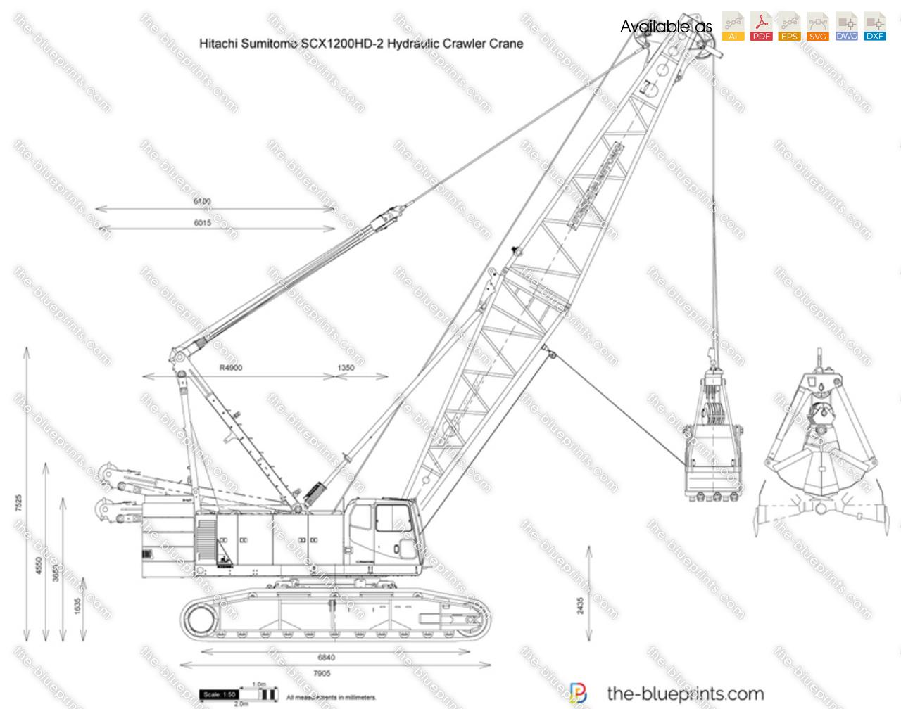 Hitachi Sumitomo SCX1200HD-2 Hydraulic Crawler Crane