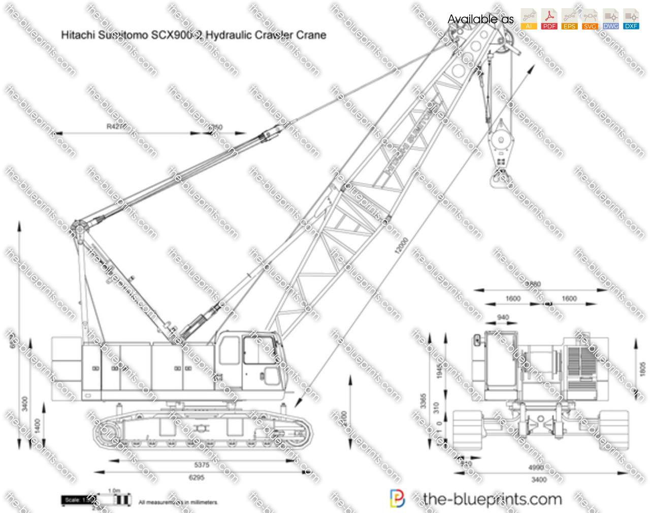 Hitachi Sumitomo SCX900-2 Hydraulic Crawler Crane