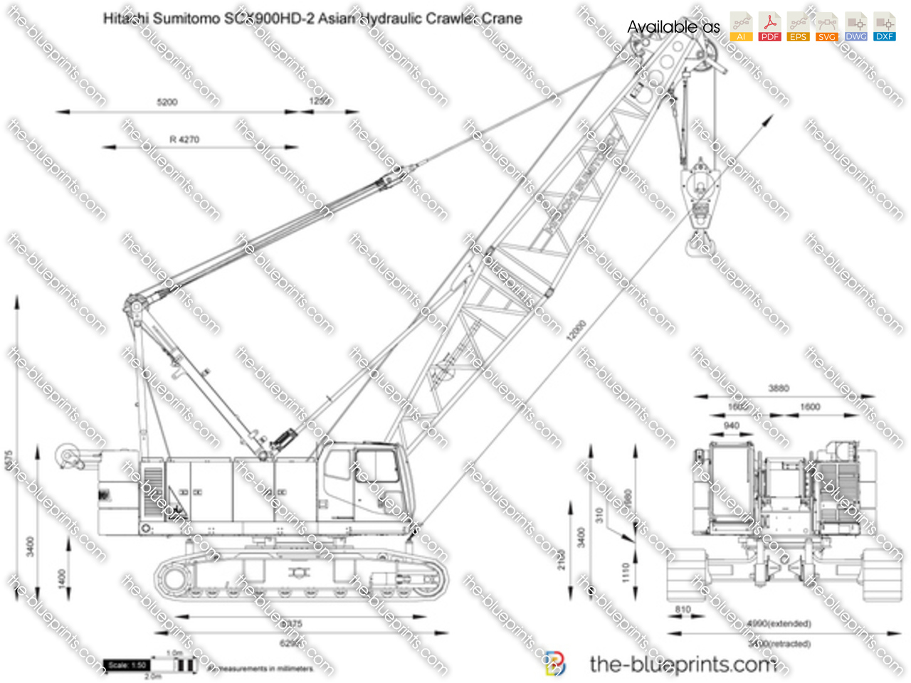 Hitachi Sumitomo SCX900HD-2 Asian Hydraulic Crawler Crane