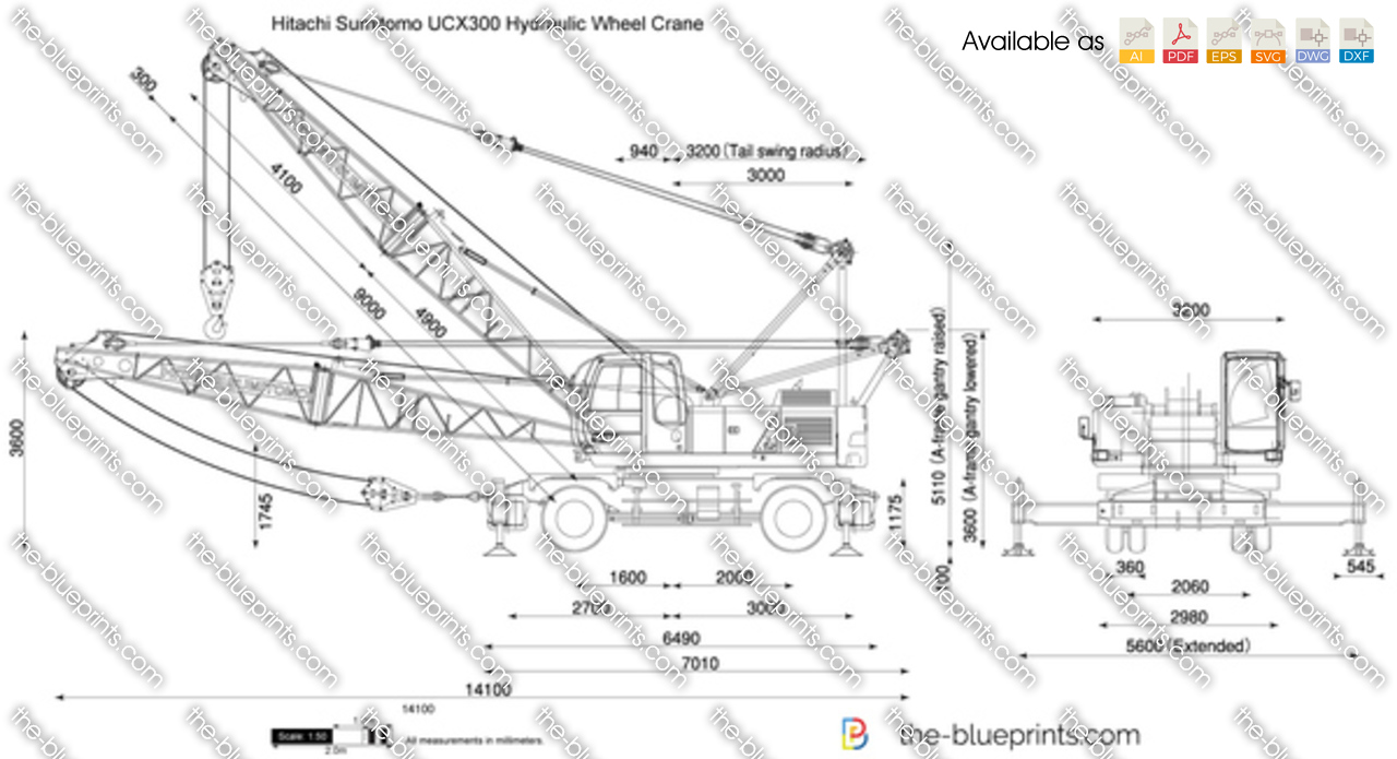 Hitachi Sumitomo UCX300 Hydraulic Wheel Crane