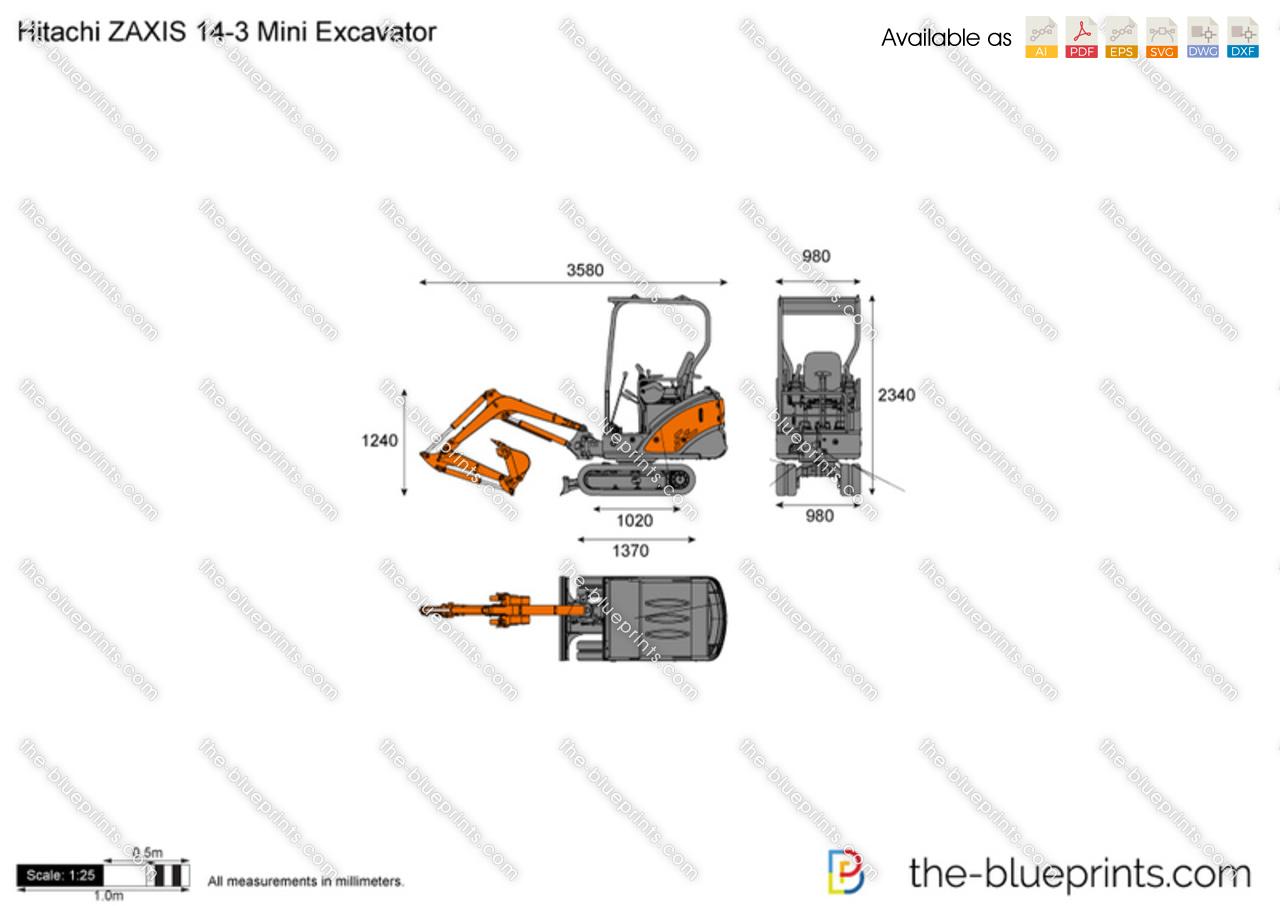 Hitachi ZAXIS 14-3 Mini Excavator