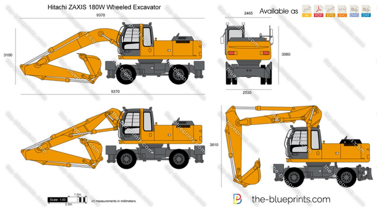 Hitachi ZAXIS 180W Wheeled Excavator