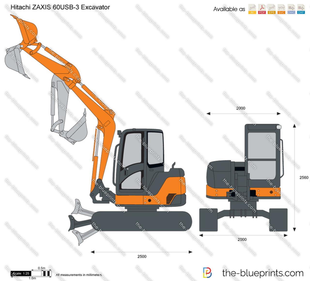 Hitachi ZAXIS 60USB-3 Excavator