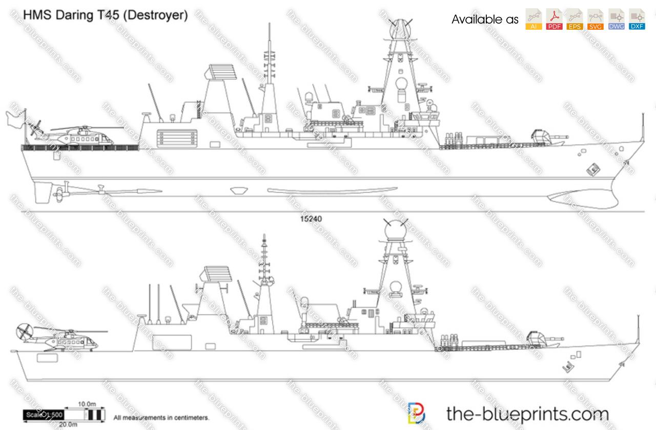 HMS Daring T45 (Destroyer)