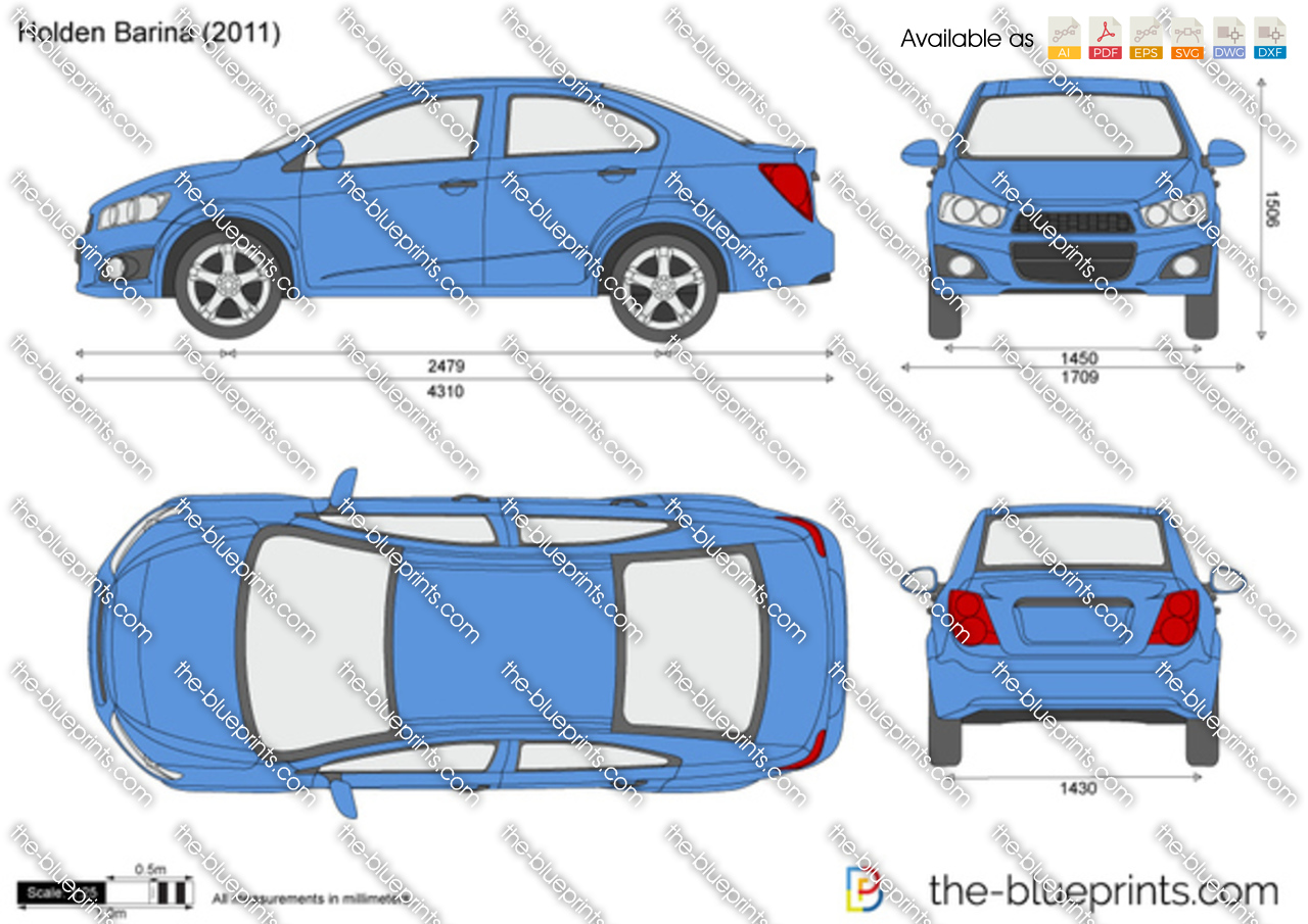 Holden Barina Vector Drawing