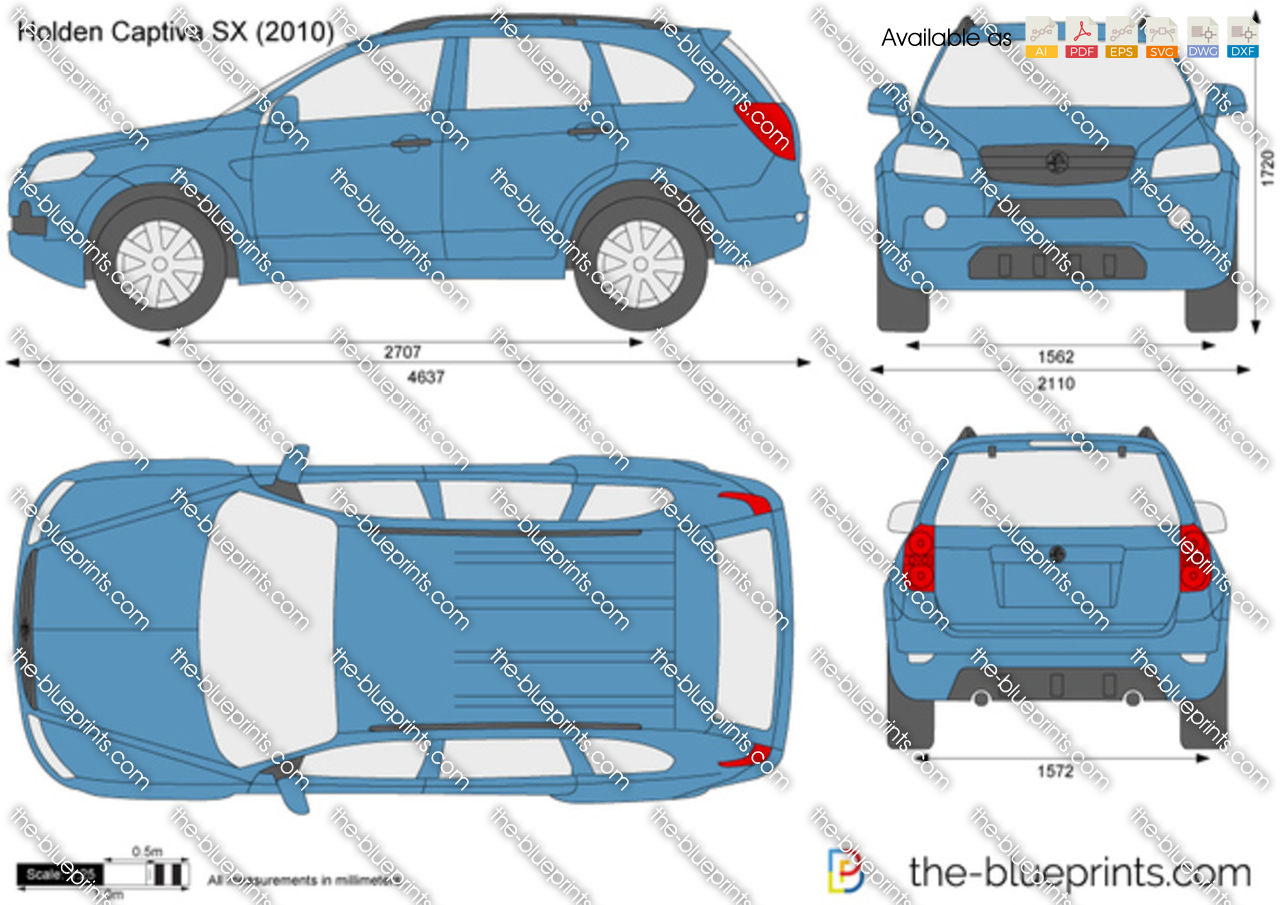 Holden Captiva Sx Vector Drawing